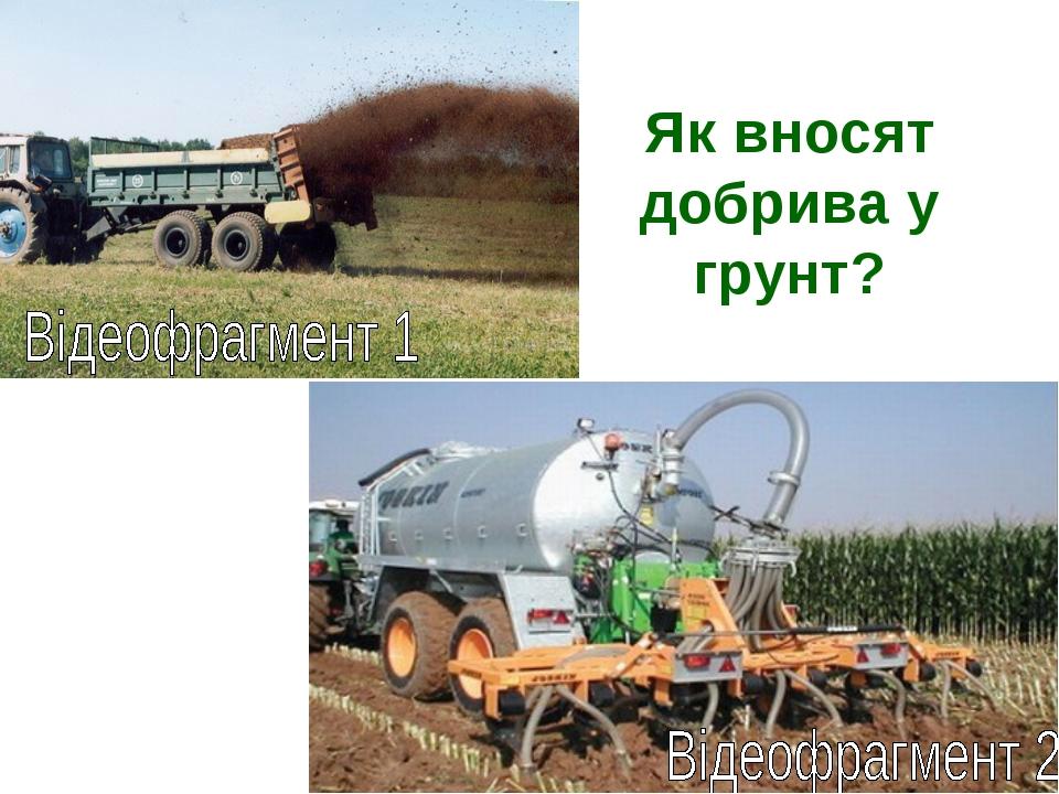 Як вносят добрива у грунт?