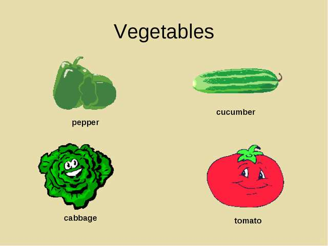 Vegetables pepper cucumber cabbage tomato