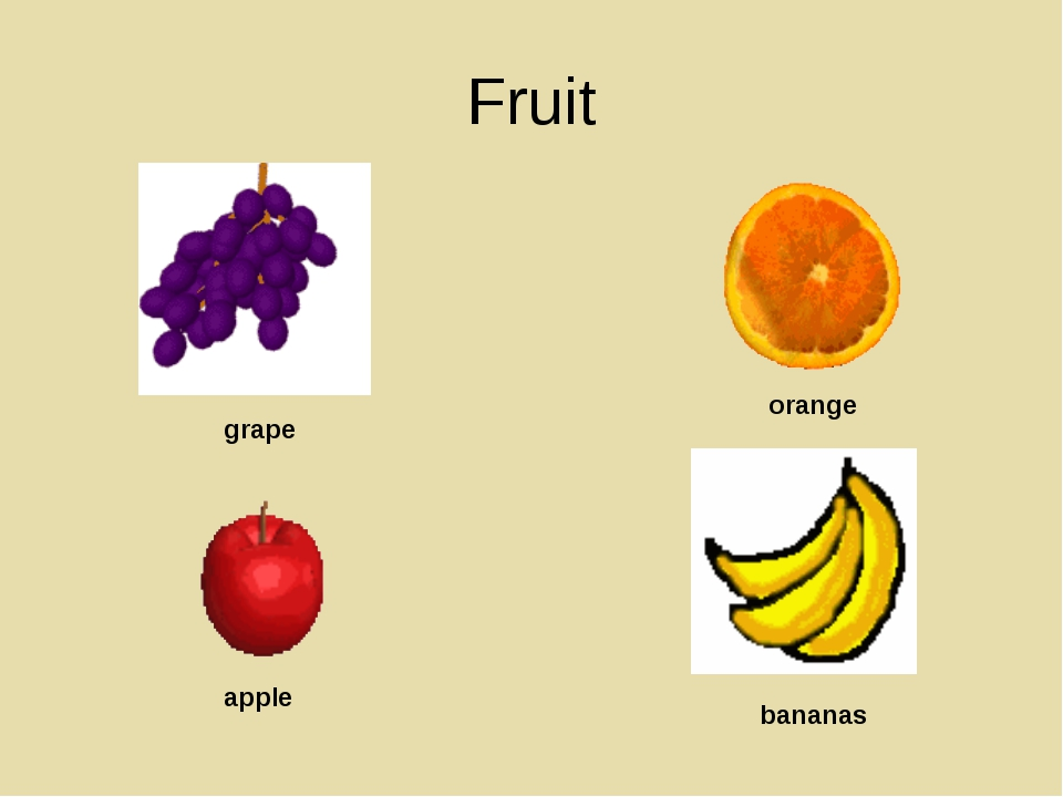 Fruit grape orange apple bananas