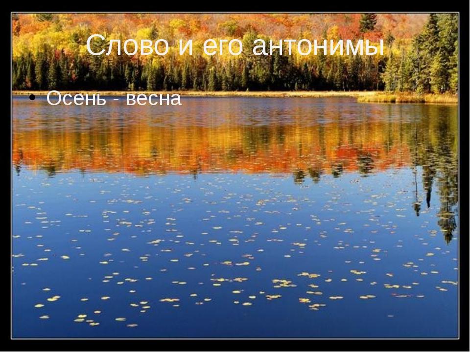 Слово и его антонимы Осень - весна