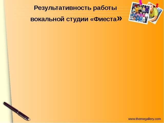 Результативность работы вокальной студии «Фиеста» www.themegallery.com