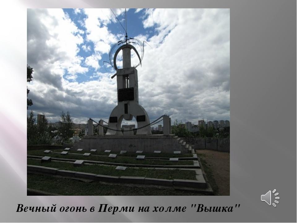 """Вечный огонь в Перми на холме """"Вышка"""""""