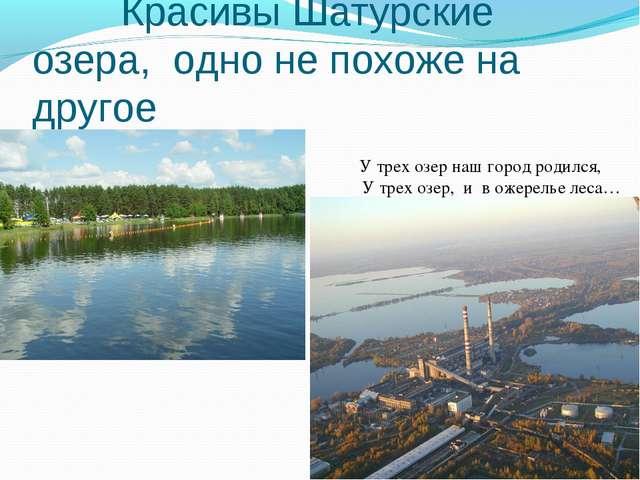 Красивы Шатурские озера, одно не похоже на другое У трех озе...