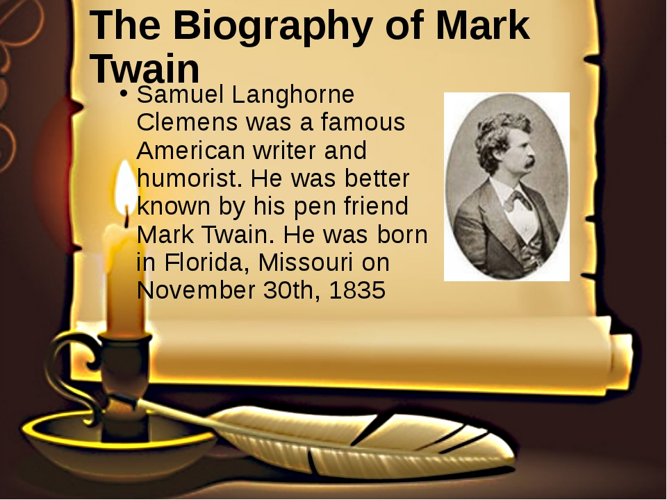 samuel longhorne clemens mark twain essay Mark twain essays: over 180,000 mark order plagiarism free custom written essay samuel longhorne clemens --mark twain—actually spent many of his happiest.