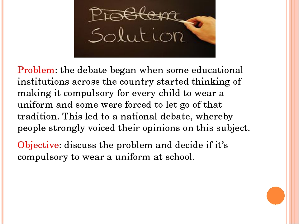Problem: the debate began when some educational institutions across the coun...