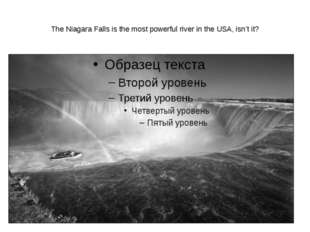 The Niagara Falls is the most powerful river in the USA, isn't it?