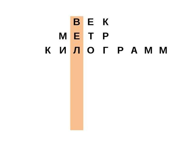 ВЕК МЕТР КИЛОГРАММ...
