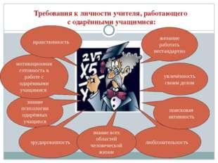 Требования к личности учителя, работающего с одарёнными учащимися: увлечённос