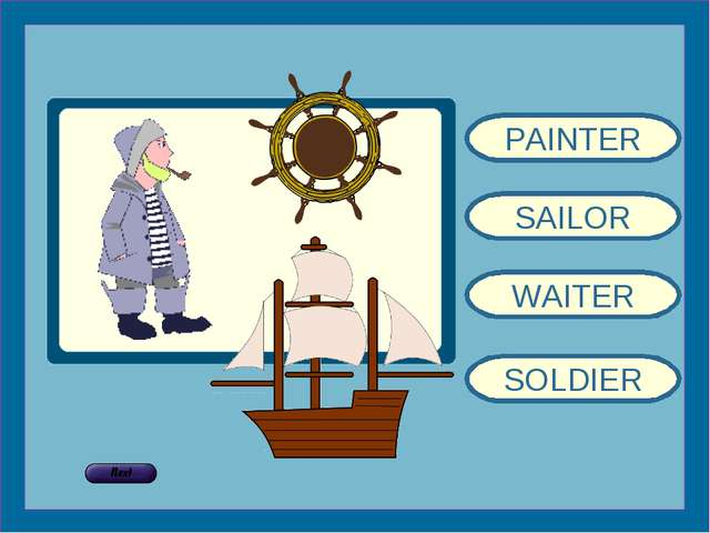 PAINTER SAILOR WAITER SOLDIER