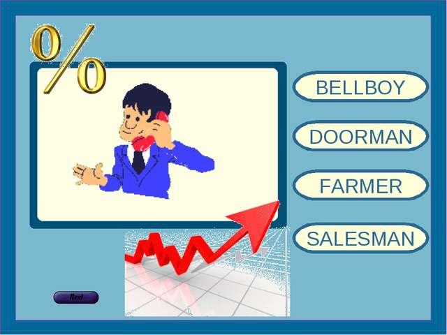 BELLBOY DOORMAN FARMER SALESMAN
