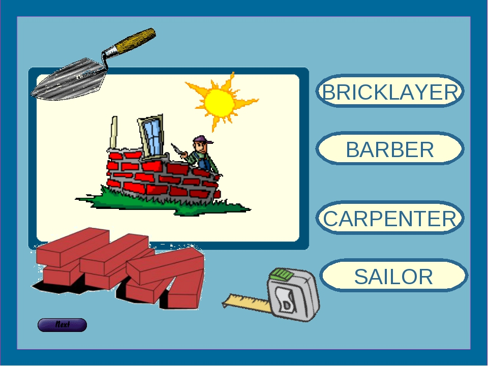 BRICKLAYER BARBER CARPENTER SAILOR