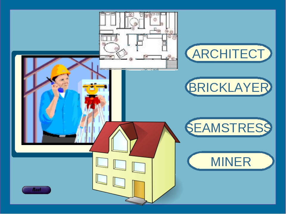 ARCHITECT BRICKLAYER SEAMSTRESS MINER