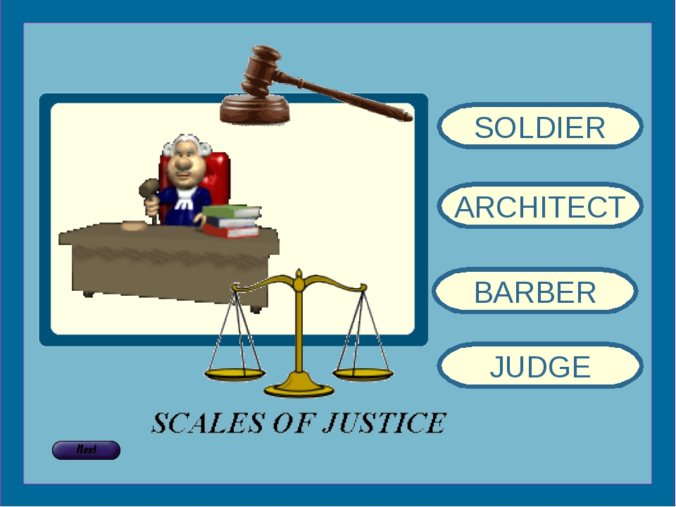 SOLDIER ARCHITECT BARBER JUDGE