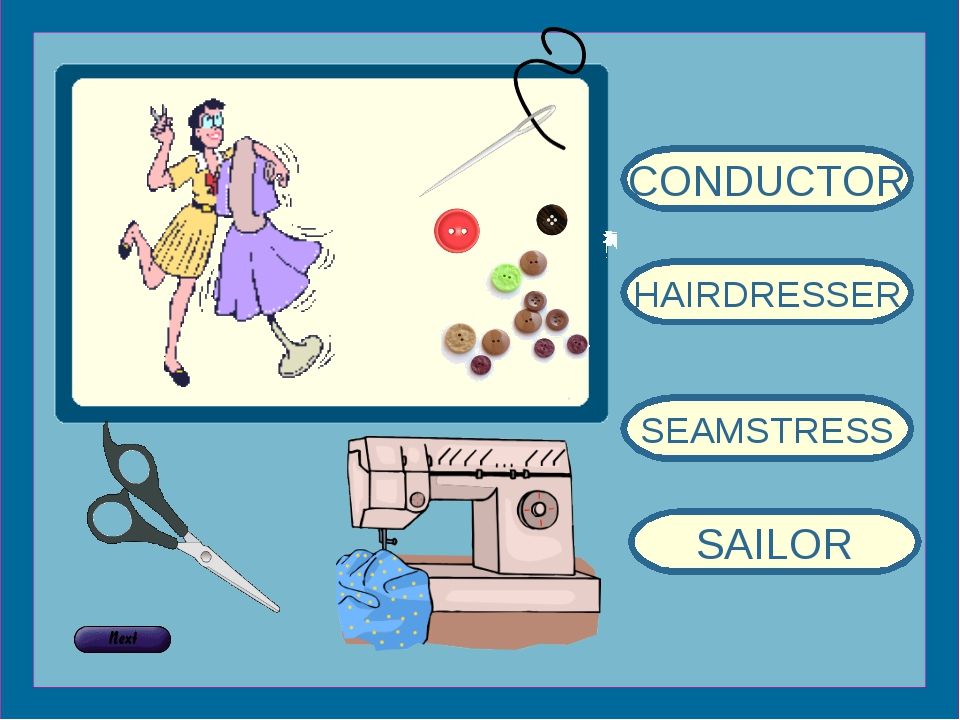 CONDUCTOR HAIRDRESSER SEAMSTRESS SAILOR