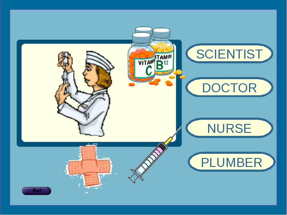 SCIENTIST DOCTOR NURSE PLUMBER