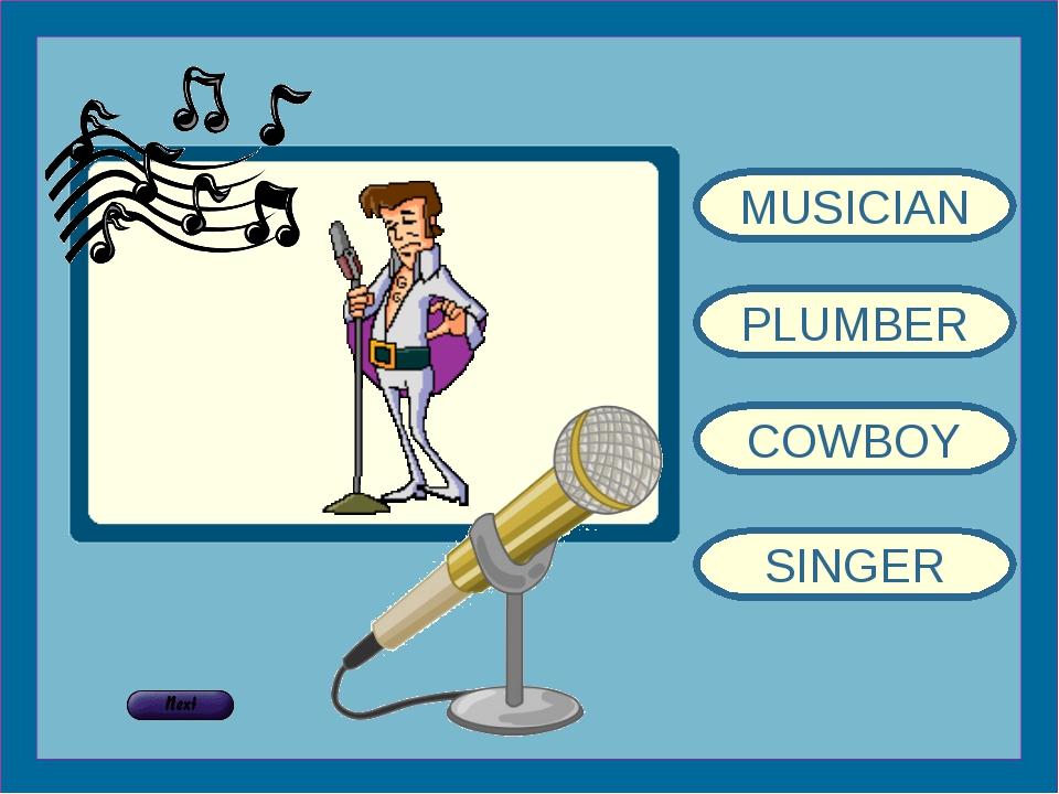 MUSICIAN PLUMBER COWBOY SINGER