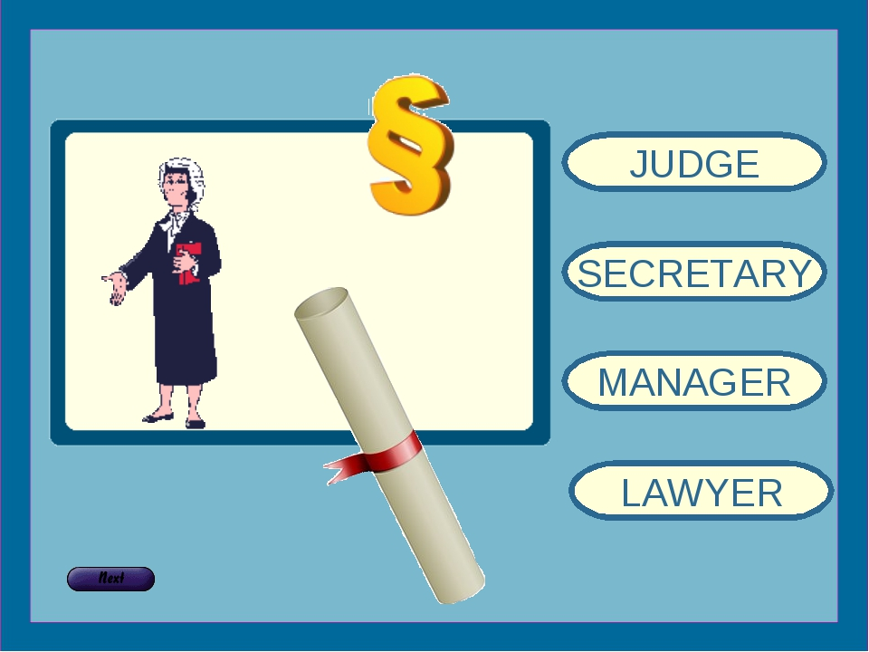 JUDGE SECRETARY MANAGER LAWYER
