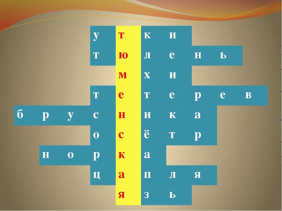 у т к и т ю л е н ь м х и т е т е р е в б р у с н и к а о с ё т р н о р к а...