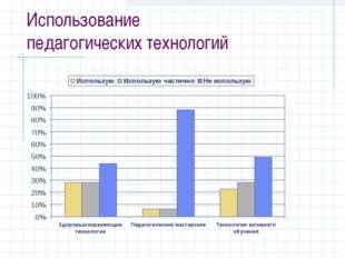 Использование педагогических технологий