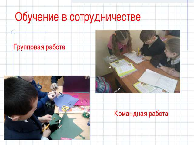 Обучение в сотрудничестве Групповая работа Командная работа