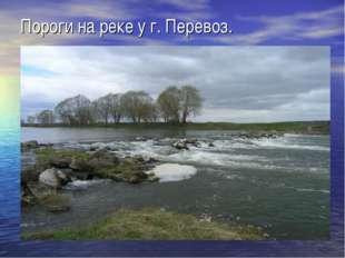 Пороги на реке у г. Перевоз.