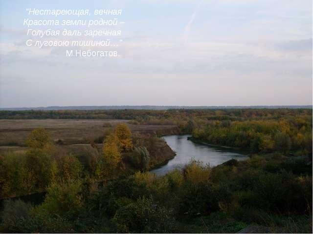 """""""Нестареющая, вечная Красота земли родной – Голубая даль заречная С луговою т..."""