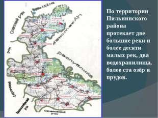 По территории Пильнинского района протекает две большие реки и более десяти