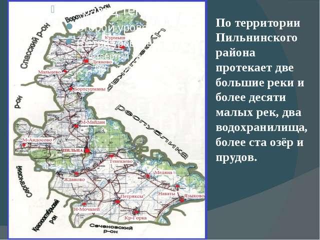 По территории Пильнинского района протекает две большие реки и более десяти...