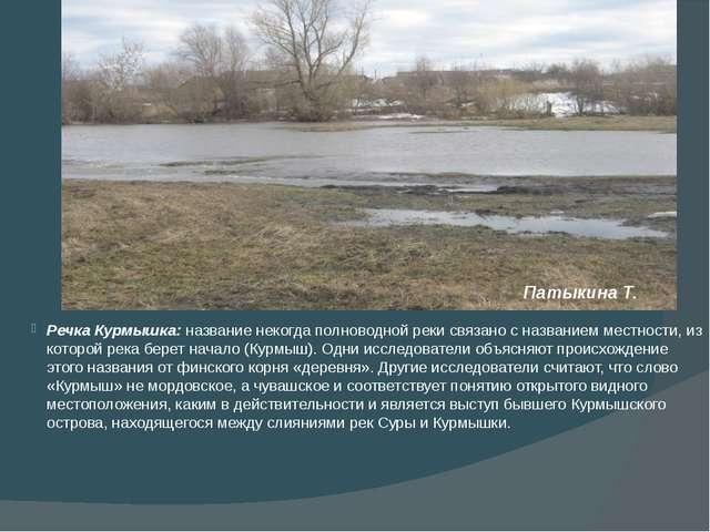 Речка Курмышка: название некогда полноводной реки связано с названием местно...