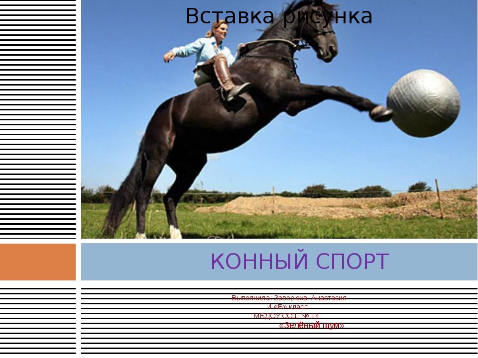 Выполнилa: Заверюха Анастасия  4 «В» класс  МБДОУ СОШ № 14 «Зелёный шум» К...