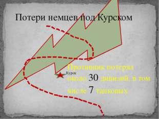 Потери немцев под Курском Курск Противник потерял около 30 дивизий, в том чи