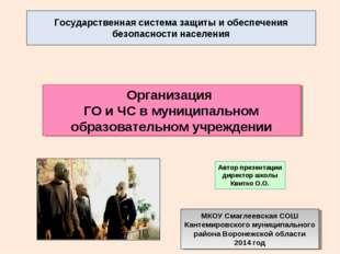 Государственная система защиты и обеспечения безопасности населения Организац