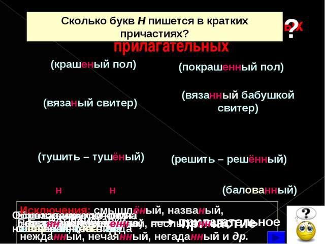Н и НН в причастиях и отглагольных прилагательных Н НН Есть (кроме не) причас...