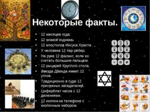 Некоторые факты. 12 месяцев года. 12 знаков зодиака. 12 апостолов Иисуса Хрис