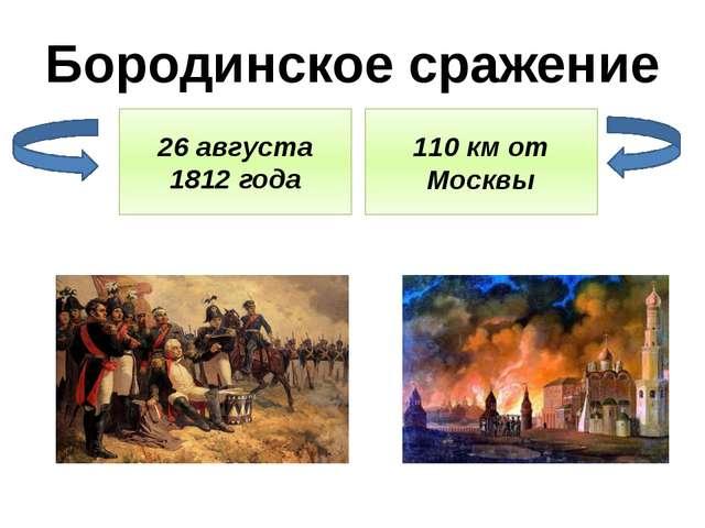 Бородинское сражение 26 августа 1812 года 110 км от Москвы