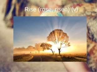 Rise (rose, risen) (v) Rise (rose, risen) (v)