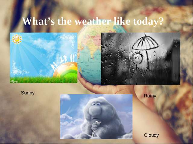 What's the weather like today? Sunny Rainy Cloudy