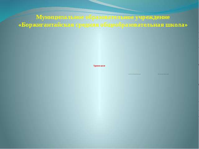 Муниципальное образовательное учреждение «Боржигантайская средняя общеобразов...