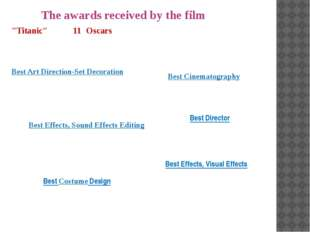 """The awards received by the film """"Titanic"""" won 11 Oscars in 1997, including Be"""