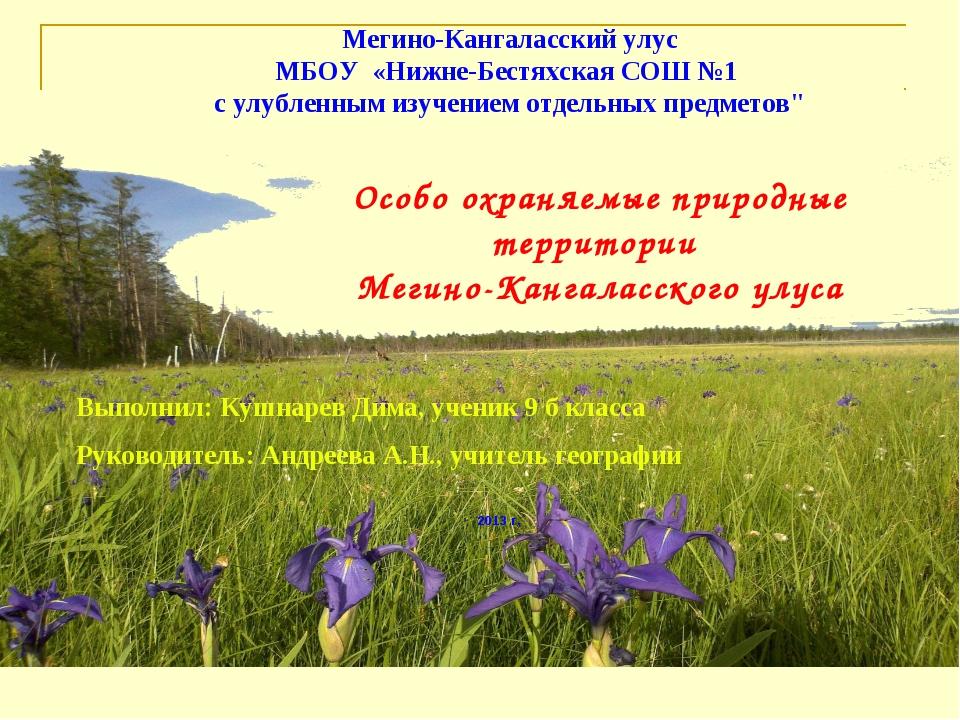 Мегино-Кангаласский улус МБОУ «Нижне-Бестяхская СОШ №1 с улубленным изучением...