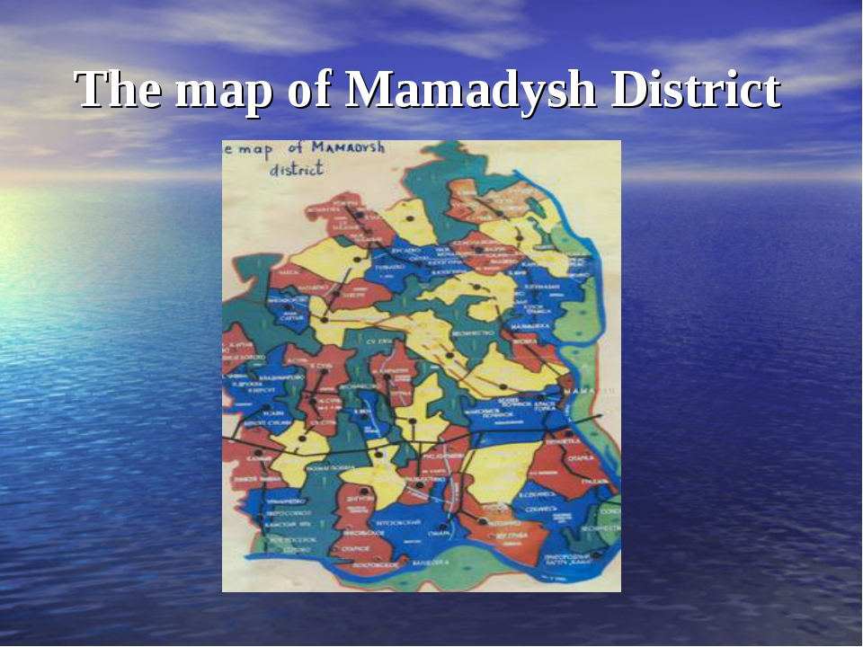 The map of Mamadysh District