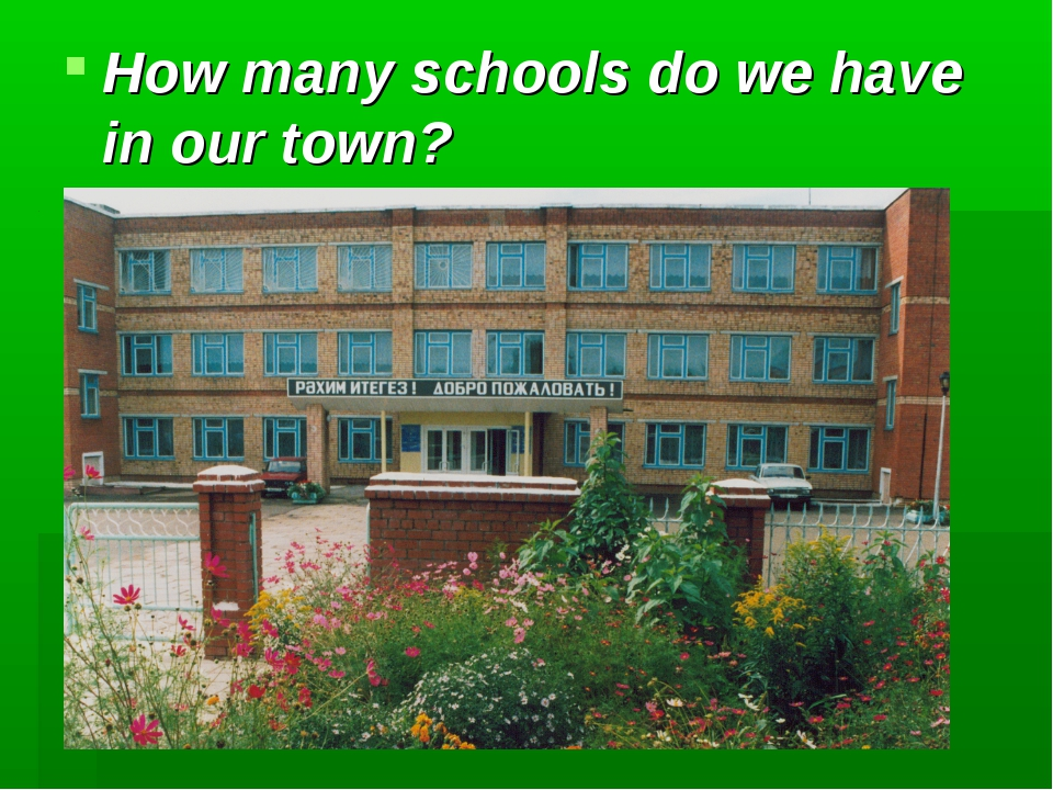 How many schools do we have in our town?