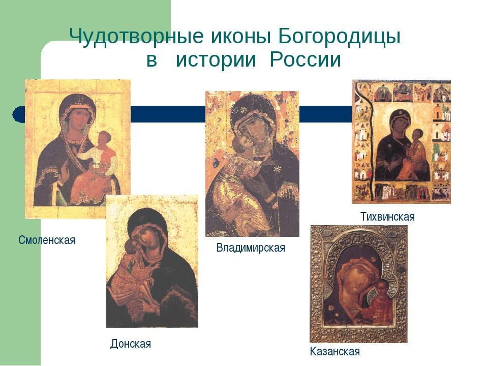 Чудотворные иконы Богородицы в истории России Смоленская Донская Тихвинская В...