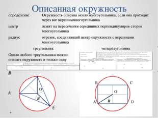 Описанная окружность O R О R