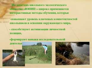 На занятиях школьного экологического общества «ЮНИП » широко применяются инт