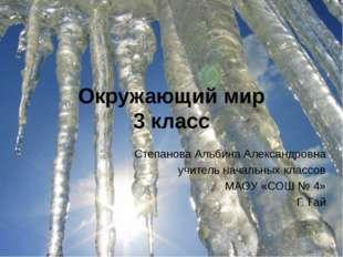 Окружающий мир 3 класс Степанова Альбина Александровна учитель начальных клас