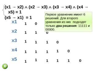 (x1 → x2)  (x2 → x3)  (x3 → x4) (x4 → x5) = 1 (z1 → z2)  (z2 → z3)  (z3