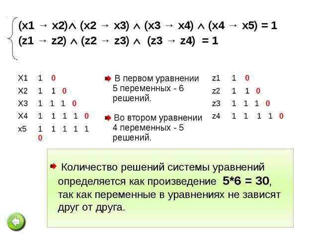 №4. Сколько существует различных наборов значений логических переменных, кото...