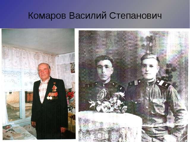 Комаров Василий Степанович Призван в августе 1942 года. Участвовал в обороне...