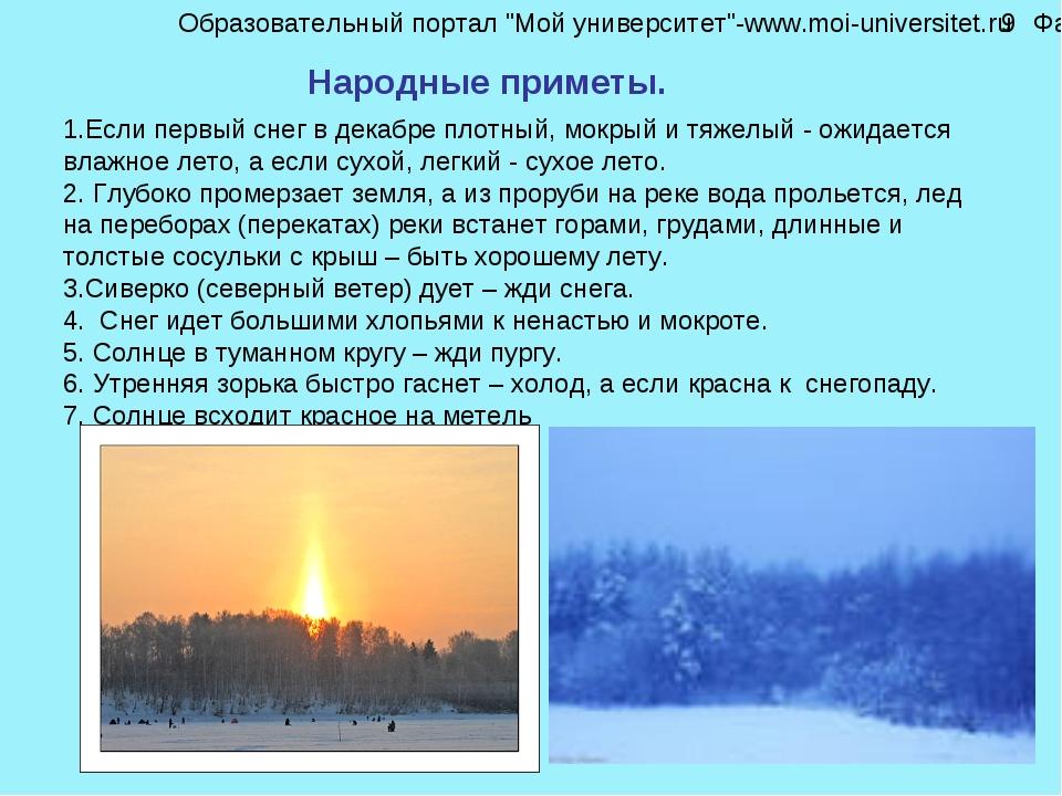 Если первый снег в декабре плотный, мокрый и тяжелый - ожидается влажное лето...